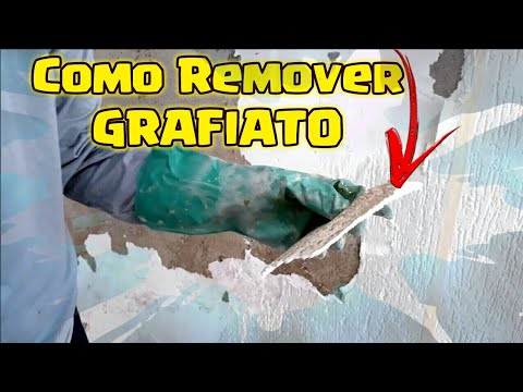 Remover textura ou grafiato