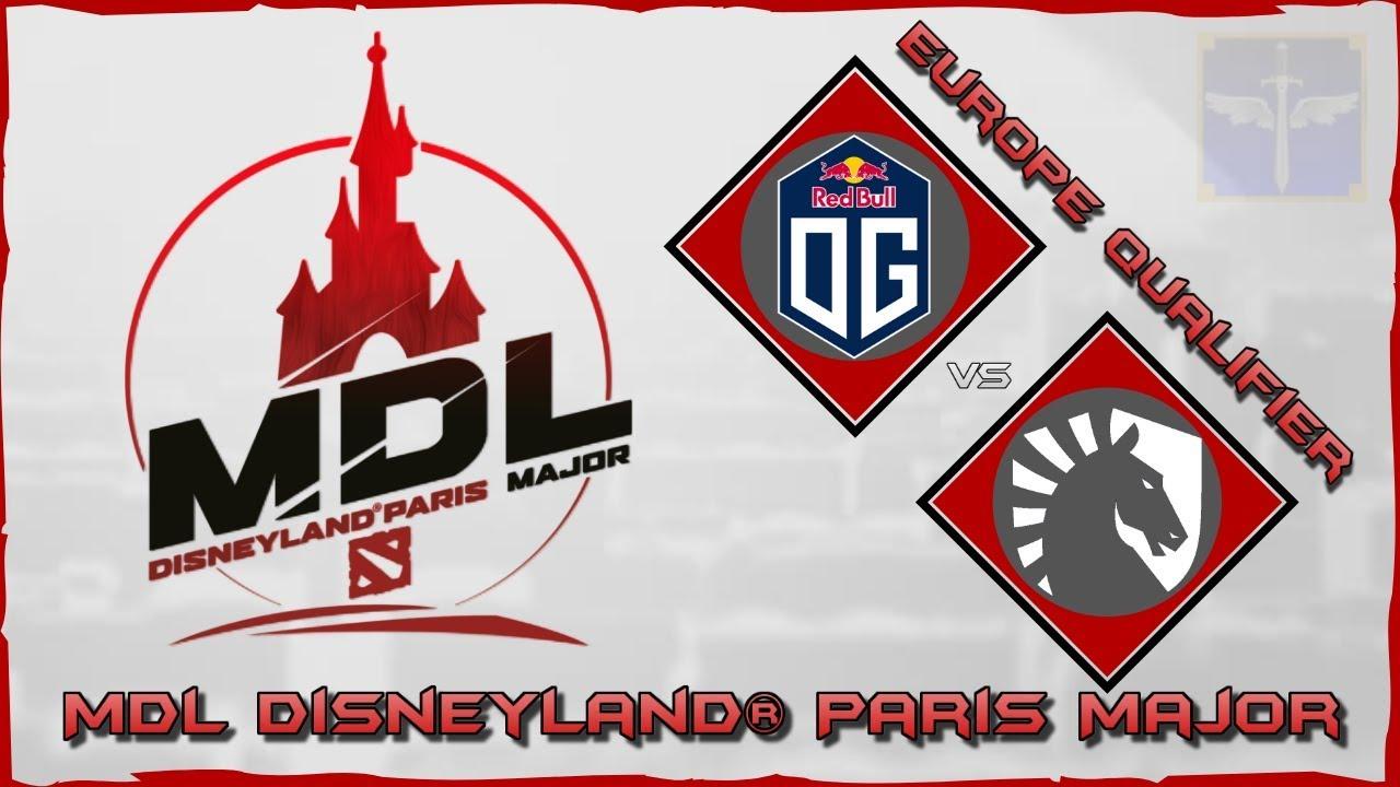 OG vs Team Liquid / MDL Disneyland® Paris Major / Dota 2 Live - YouTube