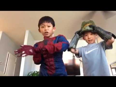 Full spiderman costume and halo gloves unboxing!!!