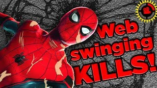Subscribe for More Awesome Theories! ►► http://bit.ly/1dI8VBHAnt-Man Could KILL US ALL! ►► http://bit.ly/2uyTIMhHow to KILL DEADPOOL! ►► http://bit.ly/2sxSGyVIt has been a topic I've wanted to cover since the start of Film Theory, and now that Spiderman Homecoming is in theaters I figured what better time? And after plenty of research, it turns out that our Friendly Neighborhood Spiderman is DEAD! Pure and simple. And it's by his own doing! In the end it is not the Rhino, or Vulture, or any other animal that stomps this pest into the ground. No, it is that cruel mistress known as Physics! MORE FILM THEORIESDeadpool WROTE Deadpool! ►► https://goo.gl/C6X1RFRick's True CRIME!  Rick and Morty ►► https://goo.gl/3F4lzaThe Real Reason Wolverine is Dying! ►► http://bit.ly/2tQZKdwBatman's Deadly Disease - CURED! ►► http://bit.ly/2uSSXgzLike the theme song and remix for this episode? Thanks to CARF! https://www.youtube.com/user/carfmobileSOCIAL MEDIA:Twitter: @MatPatGTFacebook: facebook.com/GameTheoristsInstagram:  instagram.com/matpatgt