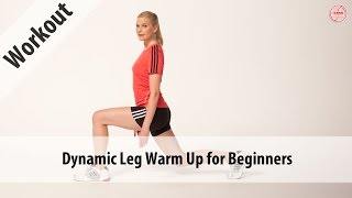The dynamic leg warm up for beginners consists of 5 dynamic stretching exercises to improve stability and prepare neural pathways.Get more info & download the program: http://www.tennis-conditioning.com/2016/12/dynamic-leg-warm-beginners/Like the shirt? Get it at http://www.StyleConditioning.com Connect with Philipp Halfmann: http://www.PhilippHalfmann.comCONNECT WITH TENNIS CONDITIONING TV- Visit our BLOG: http://www.tennis-conditioning.com- Subscribe to Tennis Conditioning TV: http://www.youtube.com/subscription_center?add_user=TennisConditioningTV- Like us on FACEBOOK: https://www.facebook.com/TennisConditioningTV- Follow us on TWITTER : https://twitter.com/TennisCondiTV- Website: http://www.TennisConditioning.TV- YouTube Channel Page: https://www.youtube.com/TennisConditioningTV- Google+: http://www.google.com/+TennisconditioningTv_Page- Pinterest: http://www.pinterest.com/tennisconditvABOUT USwww.Tennis-Conditioning.tv provides coaches and athletes with educational content, blog posts, news articles, videos, pictures and images. We are passionate about delivering thought provoking tennis-specific news and teaching people how to do something or explaining to them why something is beneficial to them because we believe in the notion that knowledge is power. We don't like to advocate something we don't believe in. We desire to share our thoughts, it's not illegal yet, and hence enable a worldwide audience to benefit as well.Featured Tennis Conditioning TV episodes include:- Professional Tennis Training Session with Alexander Ritschard (http://youtu.be/9EnfIt739pU)- How Flexibility Impacts OnCourt Performance (http://youtu.be/HFTfuzOBKnI)- Why Core Training for Tennis Players is Important (http://youtu.be/6HHGX62GVcw)- Why Jogging is a Waste of Time for Tennis Conditioning (http://youtu.be/Sxb6zuWoCN4)- The Purpose of Athletic Conditioning (http://youtu.be/lSXpMsfkULE)- How to Treat Tennis Elbow (http://youtu.be/cVm8-h0_Sok)Interval Training: How to Get Fit for Tenn