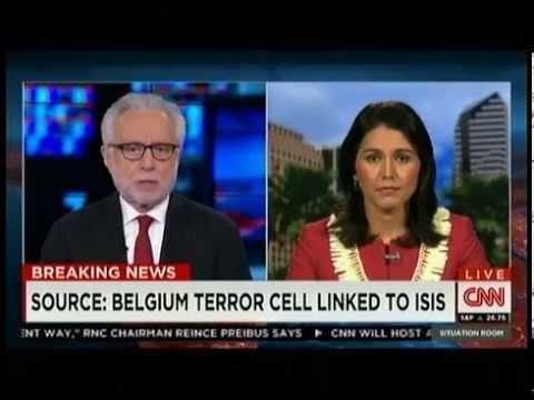 Tulsi Gabbard on CNN Paris/EU attacks