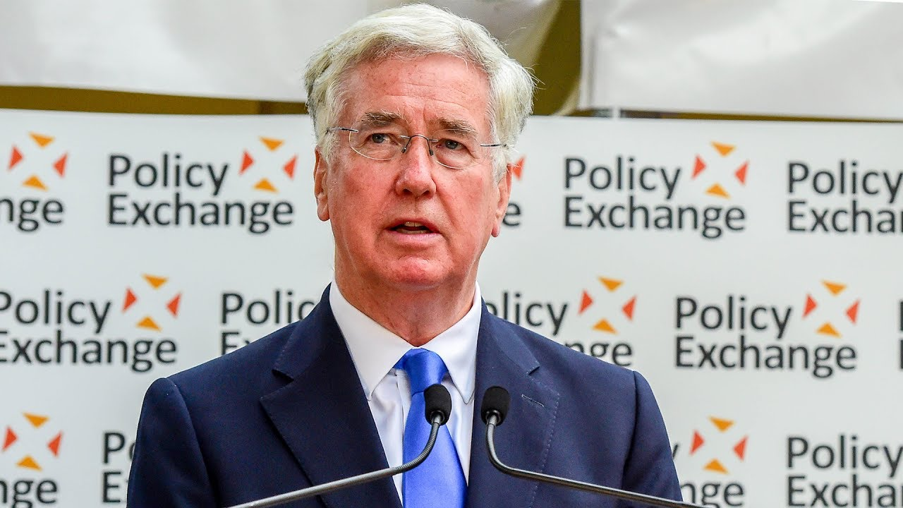 Rt Hon Sir Michael Fallon MP speaks at Policy Exchange's 2017 summer reception