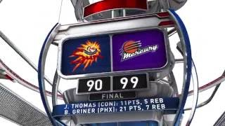 Connecticut Sun vs Phoenix Mercury by WNBA