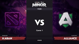 [RU] Kaban vs Alliance, Game 1, EU Qualifiers, StarLadder ImbaTV Dota 2 Minor