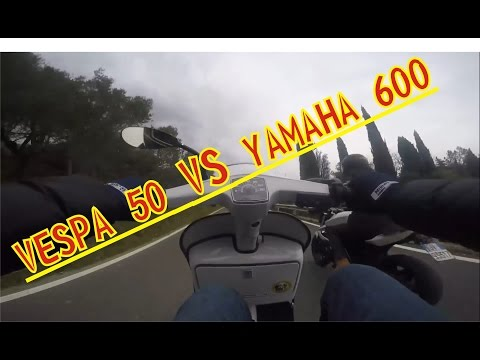 crazy - vespa 50 special vs yamaha xj6 - gopro hero4
