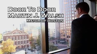 Door to Door : Boston Mayor Marty Walsh shows off his city hall office.