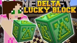 Minecraft: DELTA LUCKY BLOCK (DELTA HEROBRINE, BOB 2.0, & OVERPOWERED WEAPONS!) Mod Showcase