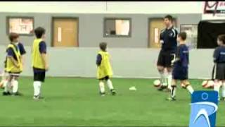 This soccer drill creates a soccer game situation where players can familiarize themselves with pressure situations. It allows...