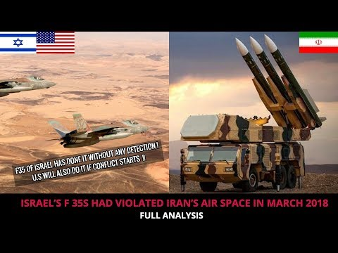 ISRAEL F 35 PENETRATED IRAN'S AIR SPACE !!