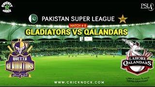 PSLT20 Match 8   Lahore Qalandars vs Quetta Gladiators