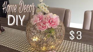 Home Decor DIY |Huge Decorative Ball DIY|Dollar Tree DIY|DIY Wedding Centrepiece Ideas