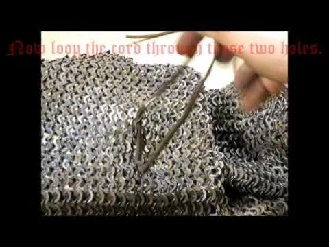How to Properly Tie Ailettes to a Hauberk