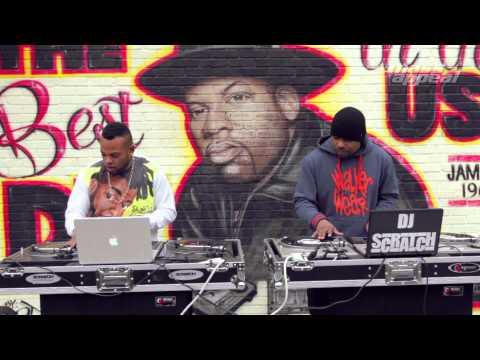Jam Master Jay Tribute TJ Mizell (JMJ son) and DJ Scratch
