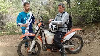 3. Lowering the KTM 300 4 inches!