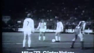 Netzer trifft nach tollem Freistoß (1973)