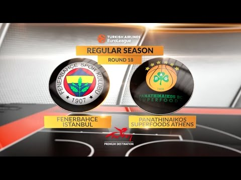 EuroLeague Highlights RS Round 18: Fenerbahce Istanbul 84-63 Panathinaikos Superfoods Athens