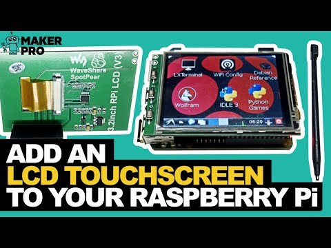 Raspberry Pi Touchscreen LCD display tutorial