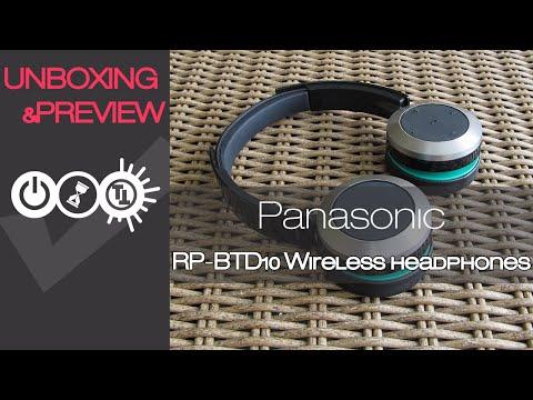 Panasonic RP-BTD10 Bluetooth Wireless Headphones Unboxing & Preview