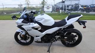 9. Mainland's look at the 2020 Kawasaki Ninja 400 ABS in Pearl Blizzard White