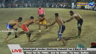 Final Dirba V/S Khara - Bahadurgarh Jandian (Bathinda) Kabaddi Cup 9 March 2018