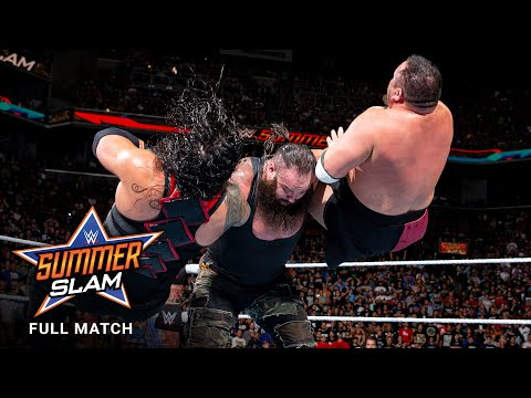 FULL MATCH: Lesnar vs. Reigns vs. Joe vs. Strowman - Universal Title Match: SummerSlam 2017