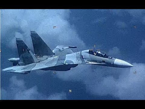 Venezuela SU-30 Flanker as it 'aggressively...