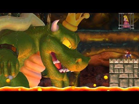 New Super Mario Bros Wii - King Koopa Boss Battle