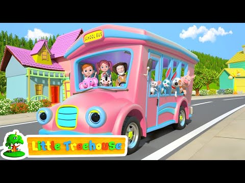 The Wheels On The Bus | Nursery Rhymes And Cartoon Videos For Children | Little Treehouse