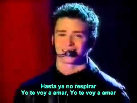 N Sync Yo Te Voy A Amar Spanish Lyrics On The Screen