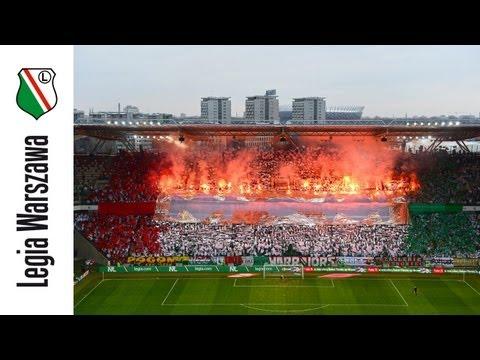 Oprawa meczu Legia Warszawa - Zagłębie Lubin