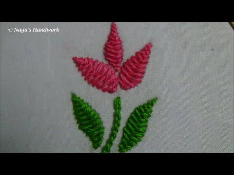 ricamo – fiore con il punto cordoncino