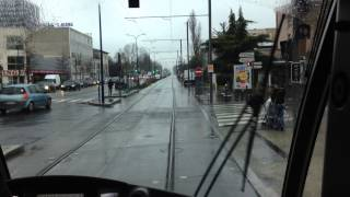 France tramway cab ride video.
