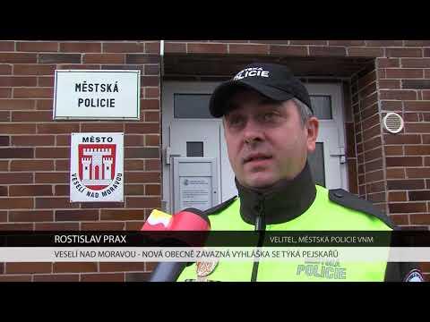 TVS: Veselí nad Moravou - Vyhláška o pohybu psů
