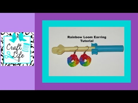Rainbow Loom Earring Tutorial