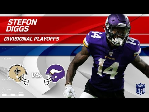 Video: Stefon Diggs Highlights w/ Game-Winning TD! | Saints vs. Vikings | Divisional Round Player HLs
