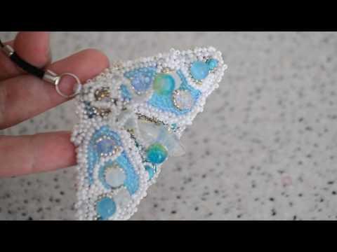 брелок из бисера и камней мотылек - DomaVideo.Ru