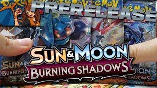 Pokemon BURNING SHADOWS Prerelease Opening - Opening 11 Packs of Burning Shadows Pokemon Packs! by Flammable Lizard