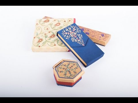 Wedding Favour Boxes using Liquid Embroidery