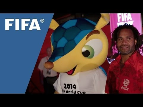 Karembeu describes the excitement of joining the FIFA World Cup Trophy Tour