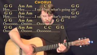 Video What's Up (4 NON BLONDES) Strum Guitar Cover Lesson with Chords/Lyrics - Capo 2nd MP3, 3GP, MP4, WEBM, AVI, FLV September 2019