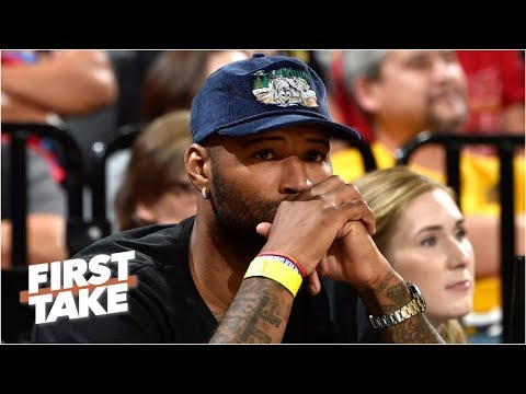 Video: Lakers' DeMarcus Cousins suffers a possible knee injury | First Take