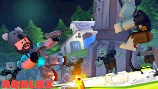 ALIEN VS ZOMBIES!!   ROBLOX Zombie Rush