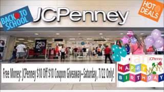 JC PENNY SALE JULY 22, 2017
