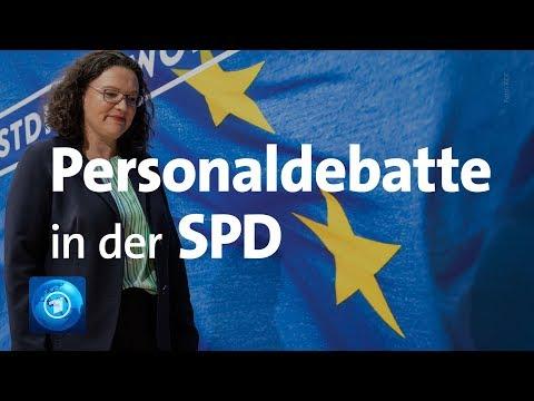 SPD: Personaldebatte - Partei-Chefin Nahles zieht Abs ...
