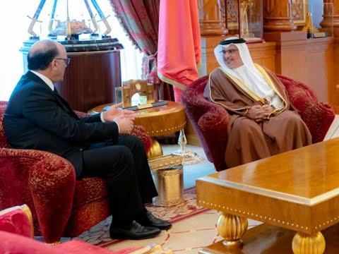 HRH Crown Prince receives outgoing Tunisian Ambassador
