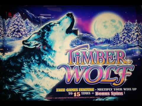 HUGE FRIGGIN WIN On TIMBER WOLF SLOT MACHINE!  MY BIGGEST WIN SO FAR!