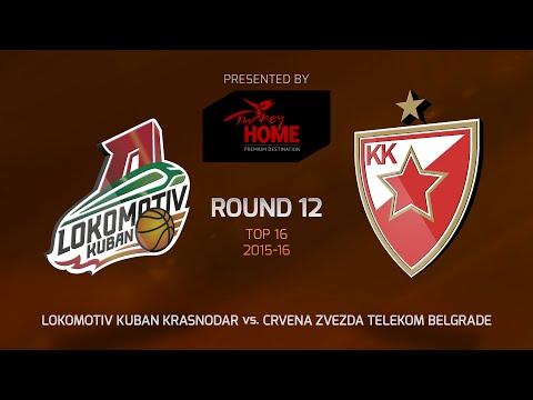 Highlights: Top 16, Round 12, Lokomotiv Kuban Krasnodar 86-62 Crvena Zvezda