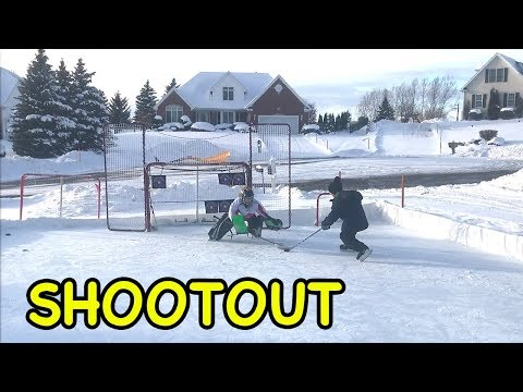 Kids HocKey Outdoor Rink BreakAway ShootOut (видео)