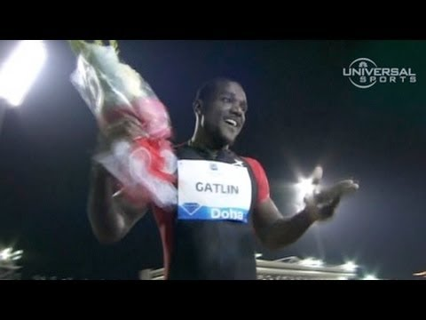 Justin Gatlin defeats Asafa Powell 100m Diamond League Doha 2012